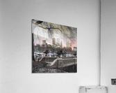 Central park with Manhattan skyline, New York  Acrylic Print