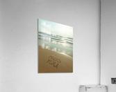 Miss You written on the beach  Acrylic Print