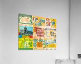 USC Trojans Football Ticket Stub Collage  Acrylic Print