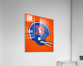 1982 Denver Broncos Football Helmet Art  Acrylic Print