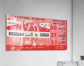 1950 Mississippi State vs. Georgia  Acrylic Print