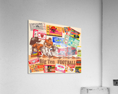 Big Ten Football Ticket Stub Collage  Acrylic Print