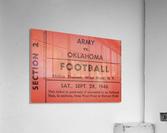 1946 Army vs. Oklahoma  Acrylic Print