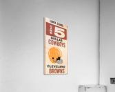 1969 Cleveland Browns vs. Dallas Cowboys  Acrylic Print