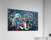 Buzzing Around the Solar System in a Rocket Ship - Bugville Critters  Acrylic Print