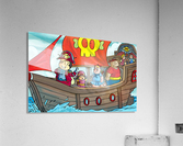 Pirate Ship on the High Seas - Bugville Critters  Acrylic Print