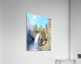 Yellowstone Waterfall - Grand Canyon of the Yellowstone River - Yellowstone National Park  Acrylic Print
