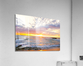 Golden Rays Across the Bay  Acrylic Print