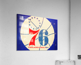 Vintage Philadelphia 76ers Art  Acrylic Print