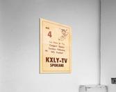 1962 kxly tv spokane football ad  Acrylic Print