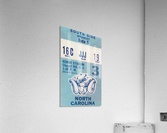 1978 North Carolina Student Ticket  Acrylic Print