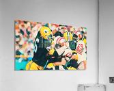 Vintage Green Bay Packers Art Digital Painting  Acrylic Print