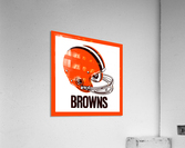 1971 Cleveland Browns Helmet  Acrylic Print