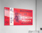 1965 Northwestern vs. Wisconsin  Acrylic Print