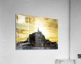 Golden Mont St Michel  Acrylic Print