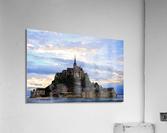 Mont St Michael Rising Tide Panorama  Acrylic Print