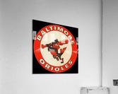 1960s Baltimore Orioles Art  Impression acrylique