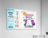 1976 Orange Bowl Ticket Stub Wall Art  Acrylic Print