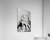 Barcelona Cathedral - La Sagrada Familia in black and white  Acrylic Print