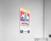 1981 minnesota miami football ticket  Acrylic Print