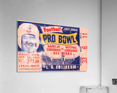 1951 First Pro Bowl Ticket Stub Art  Acrylic Print