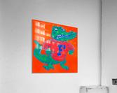 Retro Florida Gator Art  Acrylic Print