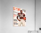 1964 Sport Magazine Jim Brown Cover Art  Acrylic Print