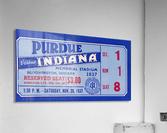 1937 Indiana vs. Purdue Ticket Stub Art  Acrylic Print