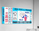1980 Ole Miss vs. Miss State Football Ticket Stub Art  Acrylic Print