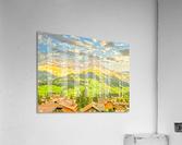 Golden Rays in the Mountains Alpine Village Switzerland  Acrylic Print