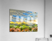Golden Rays Across The Swiss Alps with Waterfalls  Acrylic Print