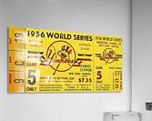 1956 World Series Perfect Game Ticket Stub Art  Acrylic Print