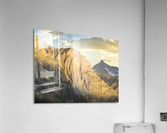 Golden Rays of the Sun on the Swiss Alps in the Bernese Highlands  Acrylic Print
