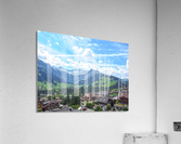 Beautiful Day in the Swiss Alps  Acrylic Print