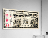 1930 Washington vs. Stanford Ticket Stub Art  Acrylic Print