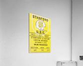 1972 Stanford vs. USC Ticket Stub Art  Acrylic Print