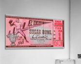 1948 Sugar Bowl Ticket Art Texas Win  Acrylic Print
