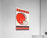 1975 Cleveland Browns Helmet Art  Acrylic Print