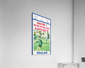 1982 Dallas Cowboys Ticket Stub Wall Art  Acrylic Print