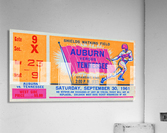 1961 Tennessee vs. Auburn Football Ticket Art  Acrylic Print