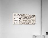 1972 Chicago Bulls vs. Boston Celtics Ticket Stub Art  Acrylic Print