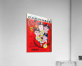 1961 St. Louis Cardinals Yearbook Poster  Acrylic Print