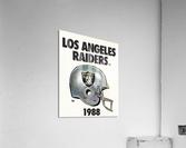 1988 Los Angeles Raiders Helmet Art  Acrylic Print