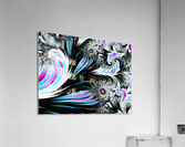 Abstract background waves.  Acrylic Print