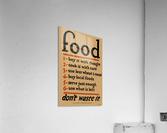 Food Poster  Acrylic Print