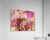 Paint Pour Tan and Pink  Acrylic Print