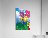 Happiness - Flower Power Buster Bee  Acrylic Print