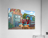 At the Fire Department - Places in Bugville Collection 2 of 4  Acrylic Print