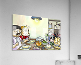 Dinner Time at the Bee House with the Family  Acrylic Print