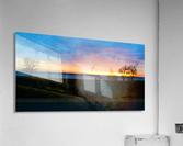 lake sunset 4 trees  Acrylic Print